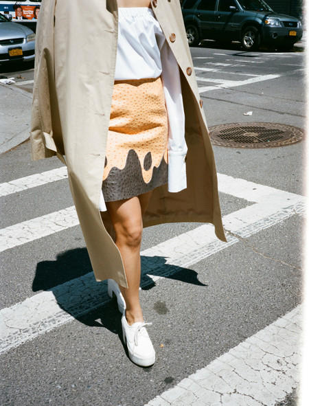 Roshi Porkar Leather Skirt