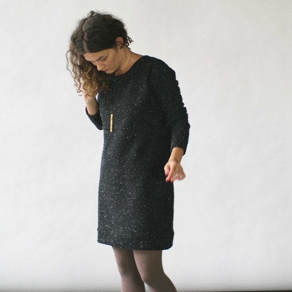 Make It Good Pebble Knit Dress in Black