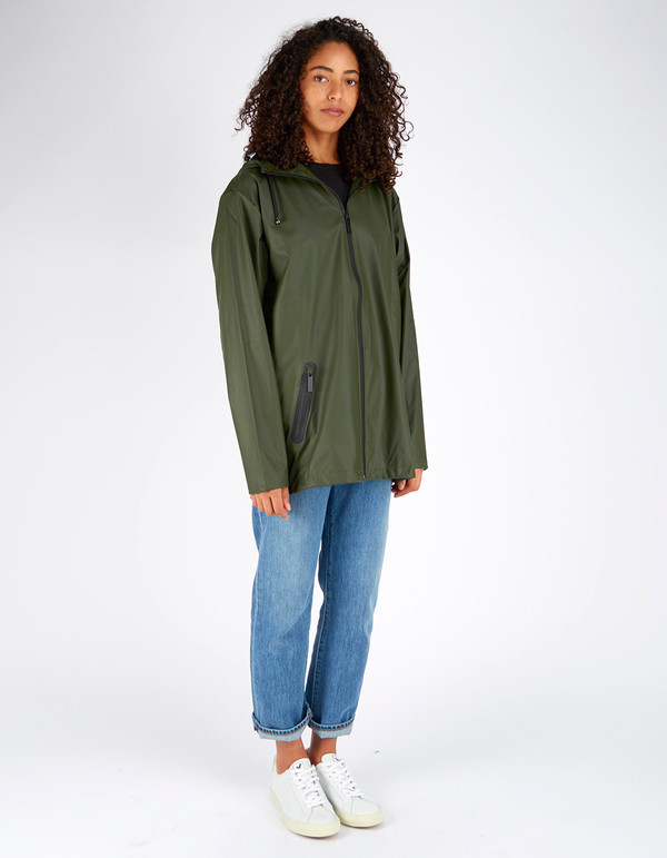 Unisex Rains Breaker Jacket Women's Green