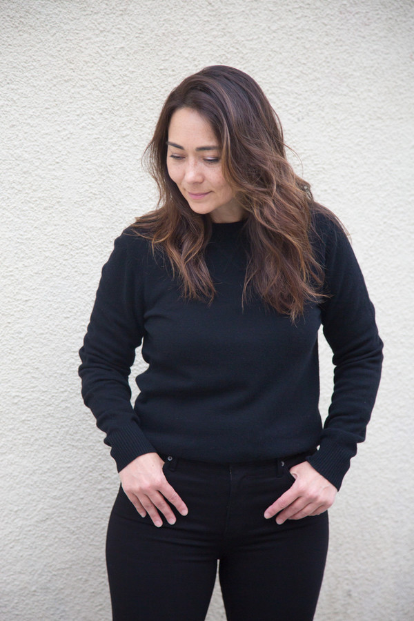 earnest sewn george cashmere crew sweater