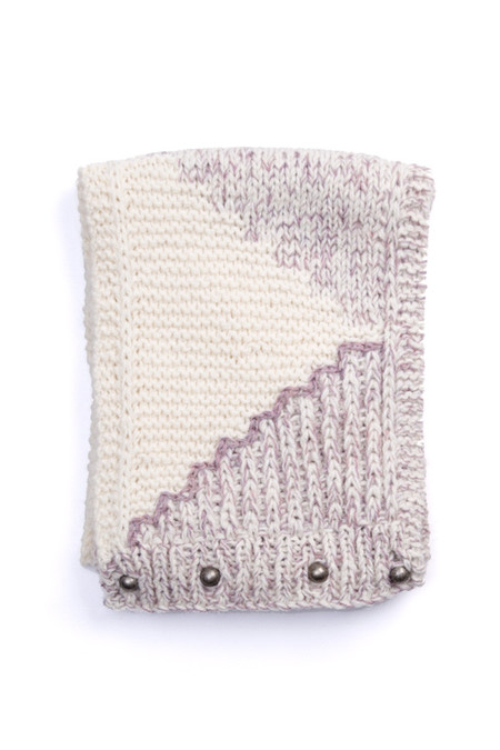 EMILIME Wall Button Scarf Soft Lavender