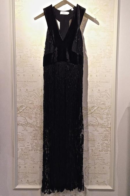 A.L.C. 'Lola' Velvet Trim Dress