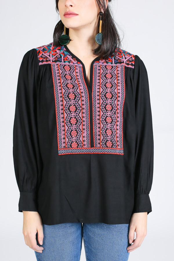 Antik Batik Khiara Blouse in Black Multi