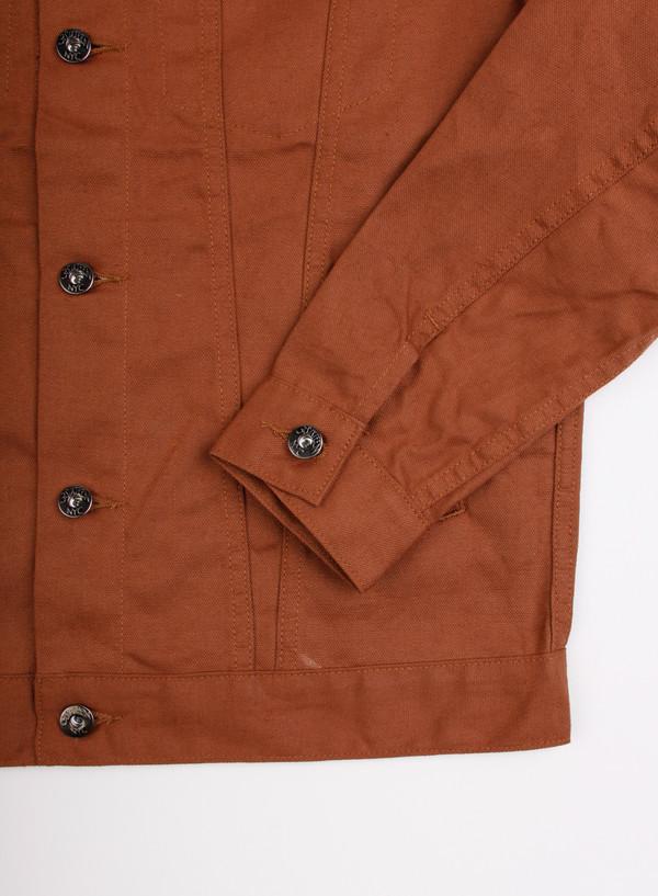 Men's 3Sixteen Type 3s Jacket Orange Selvedge Duck