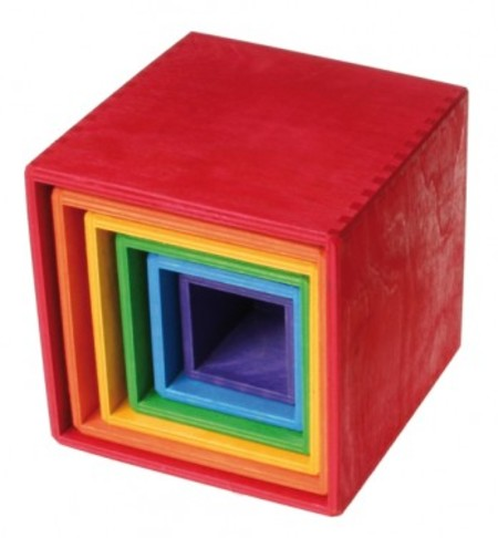 Grimm's LARGE RAINBOW SET OF BOXES - Norman & Jules