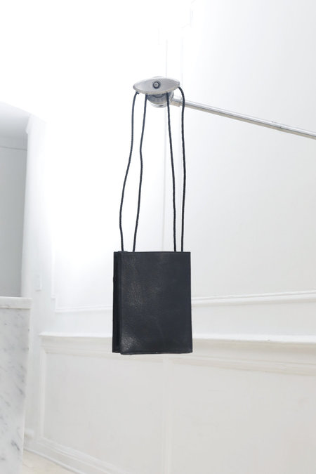 Collina Strada Square Bag Black Leather