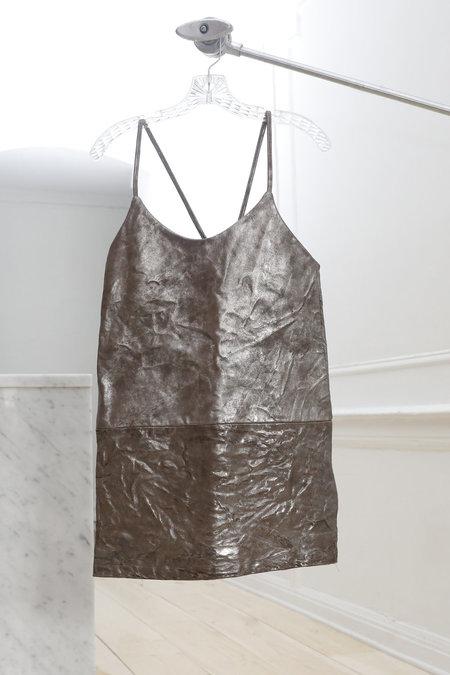 Collina Strada El Morro Mini Dress- Mercury Leather