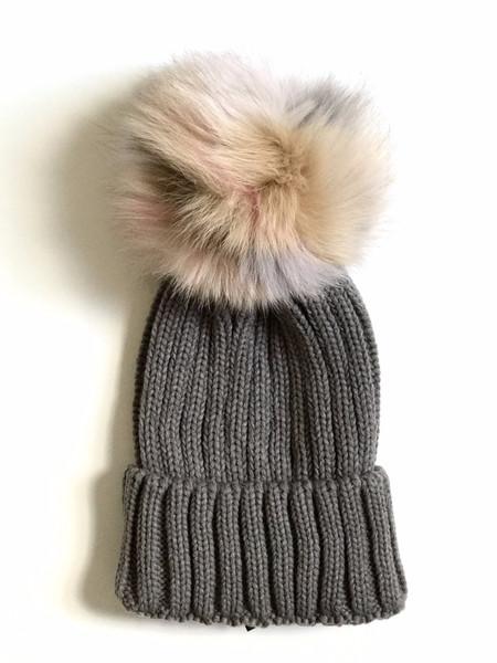 Jocelyn Knit Hat Grey/Light Multicolor