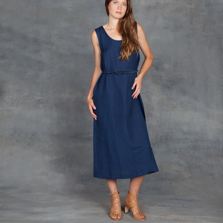 Ali Golden Cut Out Maxi Dress in Navy