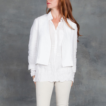 Ali Golden White Linen jacket