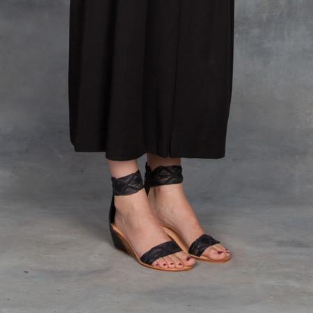 Cocobelle Lilly Black Mini Wedge Heel