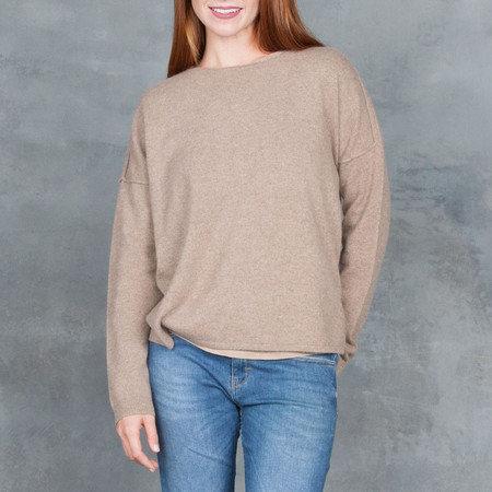 Duffy Dark Taupe Pullover Cashmere Sweater