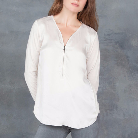GOSILK Go Zippy Redux Blouse in Quinoa