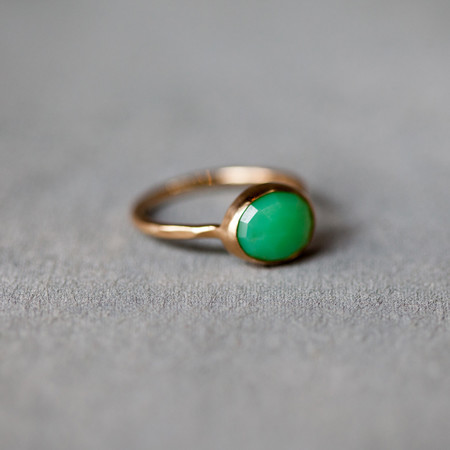 Melissa Joy Manning Bright Chrysoprase Ring in 14k Gold