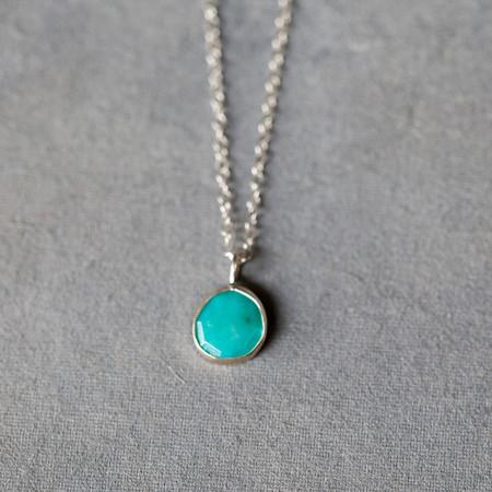 Melissa Joy Manning Sterling Silver Turquoise Pendant Necklace