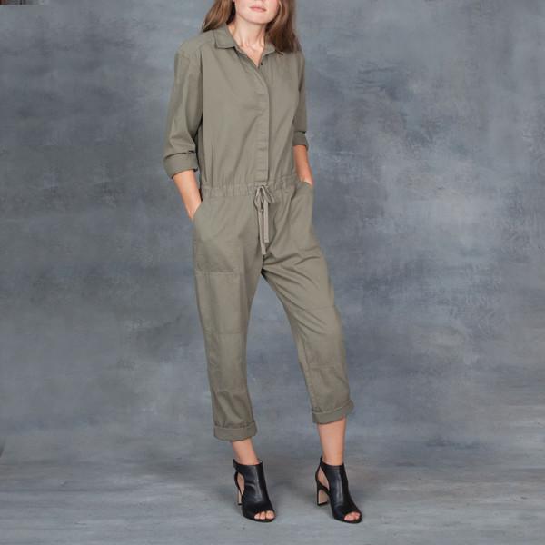 Xirena Twill Falyn Flightsuit in Army