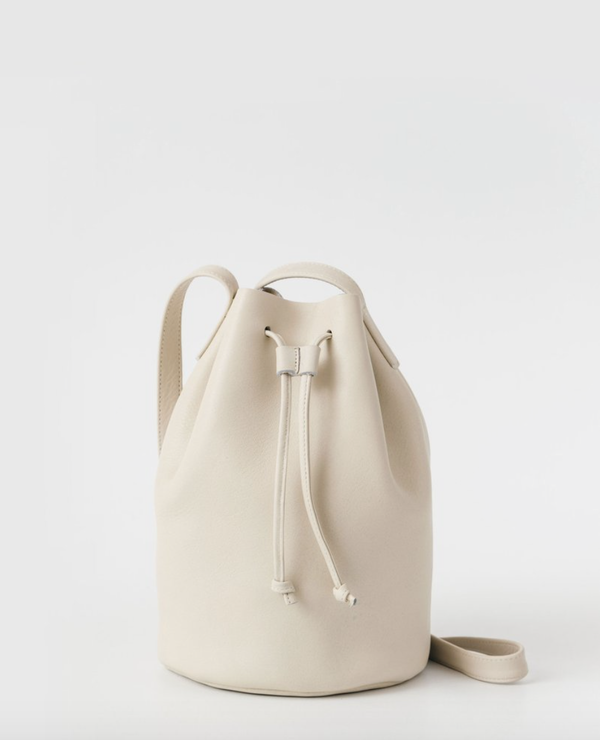 Baggu Leather Drawstring Purse