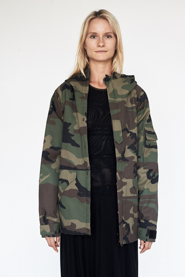 Assembly New York Cotton Camouflage Storm Coat