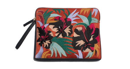 Lizzie Fortunato Safari Clutch in Cuban Hibiscus