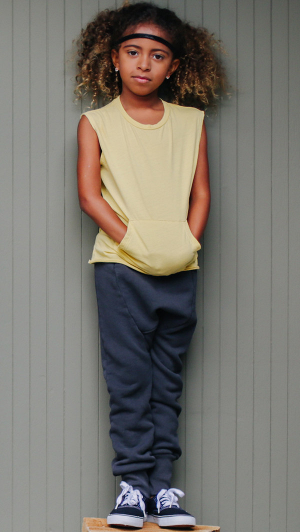 Kid's Mimobee Lowrider Harem Leggings - Sage