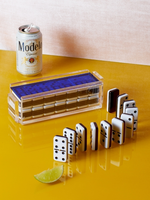 Luxe Domino Set with Racks + Spinners