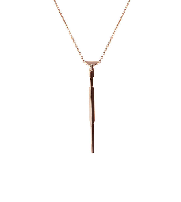 Maria Black Rose Gold Arrow Necklace