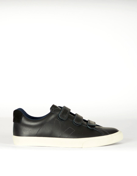 Men's Veja Esplar 3 Locks Leather Sneaker Black