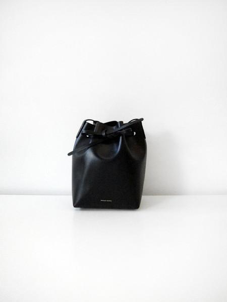 Mansur Gavriel Mini Bucket Bag, Black/Raw