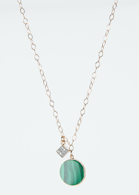 Ginette NY Ever Malachite Charm Necklace