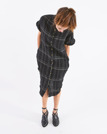 34N 118W Hewitt Plaid Shirt Dress