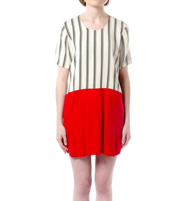 Mason By Michelle Mason Silk Front Tee Dress