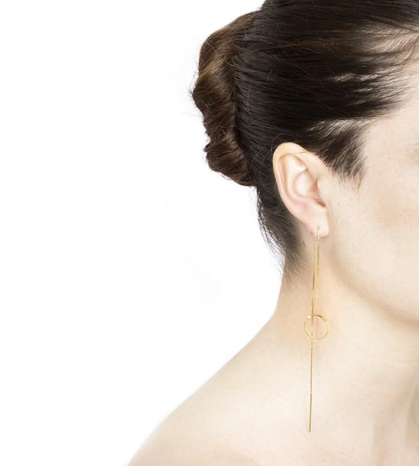 Maria Black Silver Screen Earrings