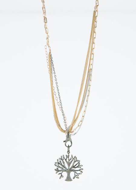 Jewels by Piper Diamond Tree of Life Necklace