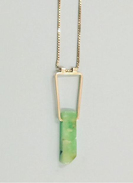 Beach Bones Geo Necklace Silver
