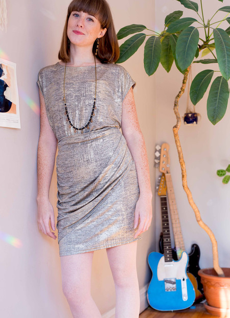 Eve Gravel St-Laurent Dress (Gold or Silver)
