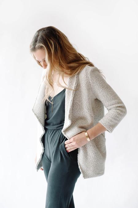 Bella Luxx Suede Jersey Jumpsuit