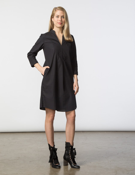 SBJ Austin Lizzie Dress - Black Poplin