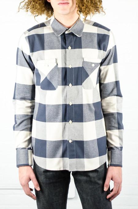 Men's 18 Waits Woodsman Pocket Shirt Cream Check