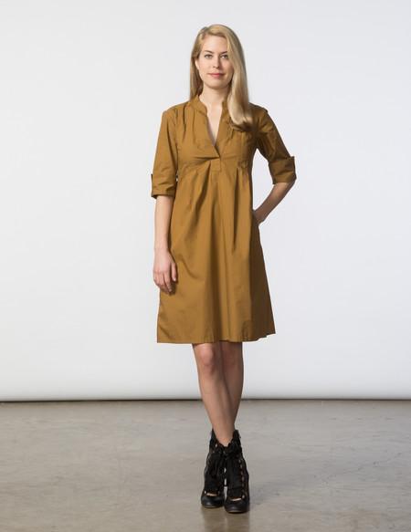 SBJ Austin Ellen Dress - Mocha Poplin