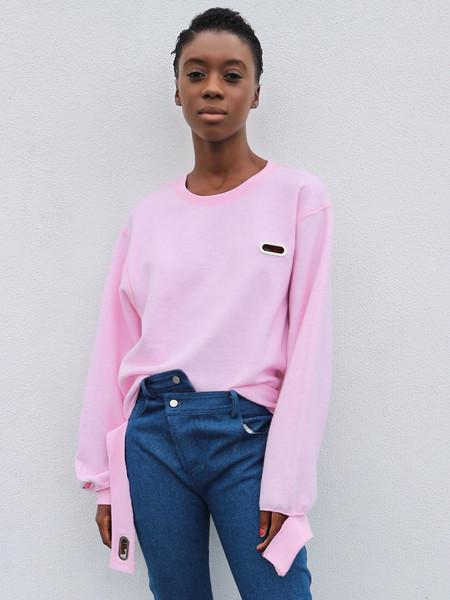 Collina Strada Grommet Sweatcrew Pastel Pink