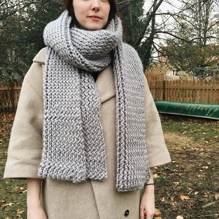 Byron & Blue Grey Blanket Scarf