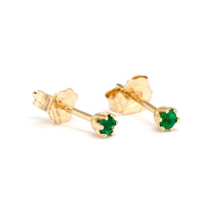 Satomi Kawakita 14K Emerald Studs