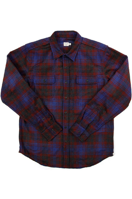 Men's Bridge & Burn Bedford Grey Burgundy Plaid