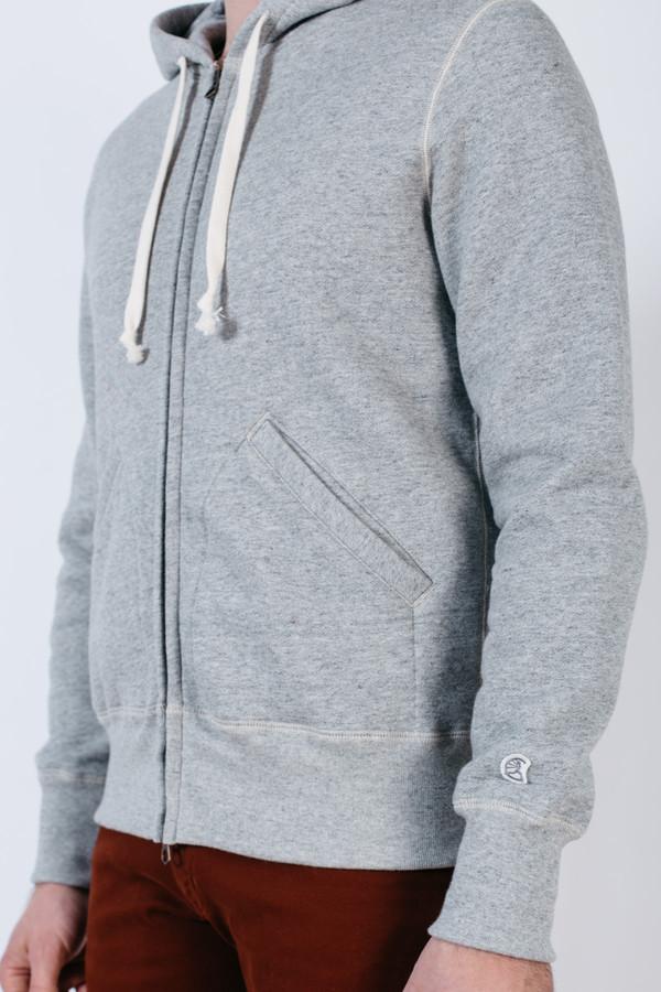 Men's Todd Snyder x Champion Zip Hoodie Grey Mix