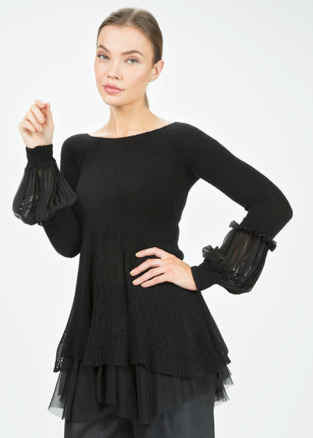 Cashmere Babydoll Sweater