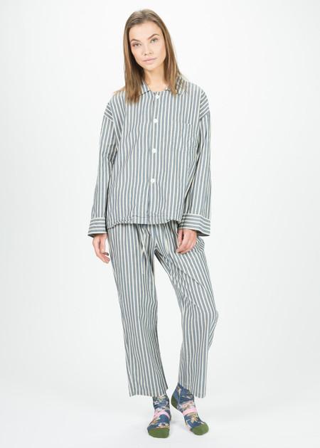 Domi Oversize Woven Pajama Set