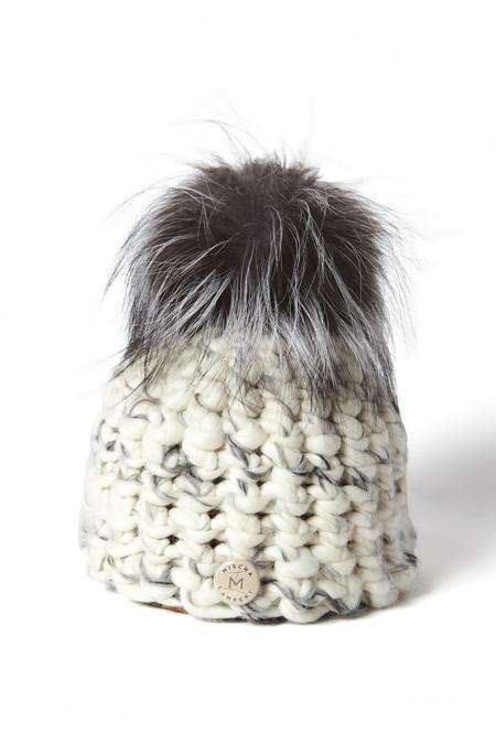 Mischa Lampert White/ Grey Blend Hat/ Silver Fox