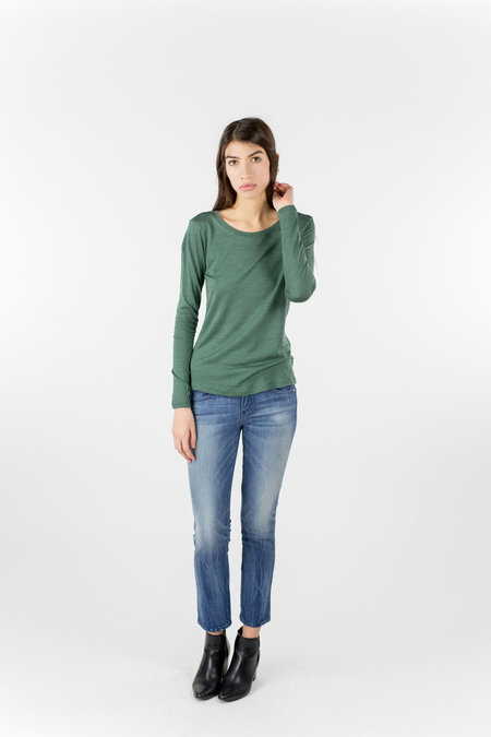 Just Female Journey Wool Top - Shade Green