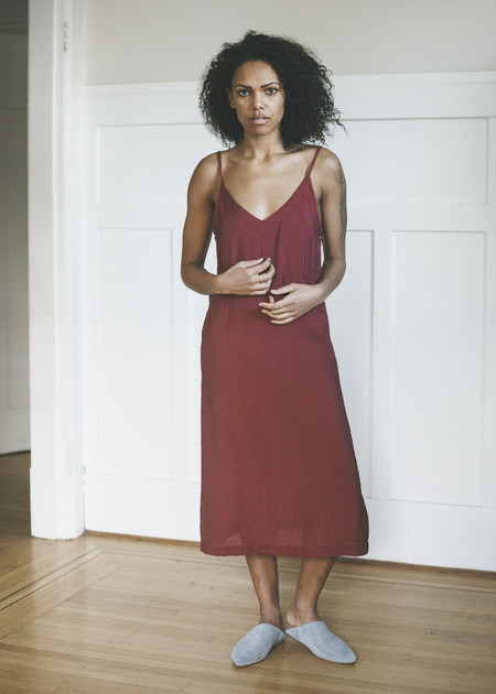 Lacausa Alma Slip Dress in Crimson
