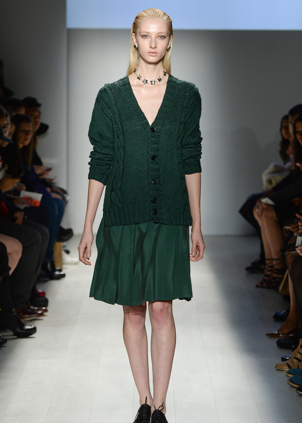 Malorie Urbanovitch Cable Knit Cardigan